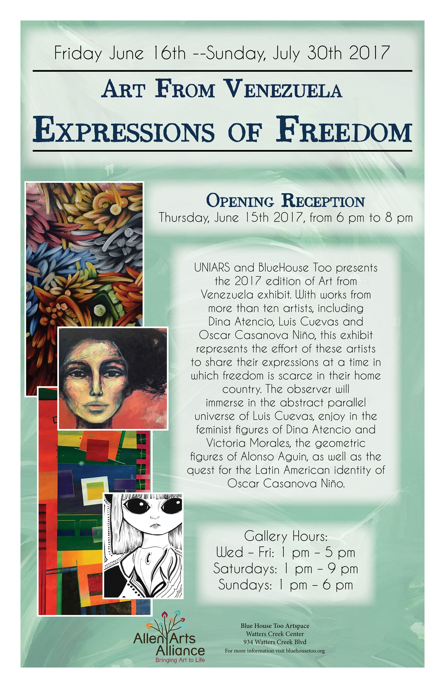 Art from Venezuela, Expressions of Freedom Exhibit
