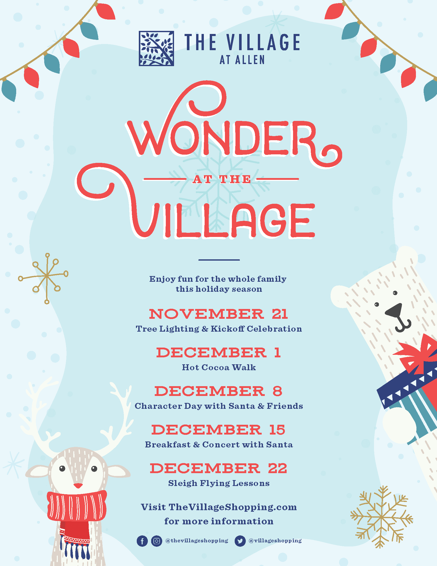 Wonder at the Village list of events