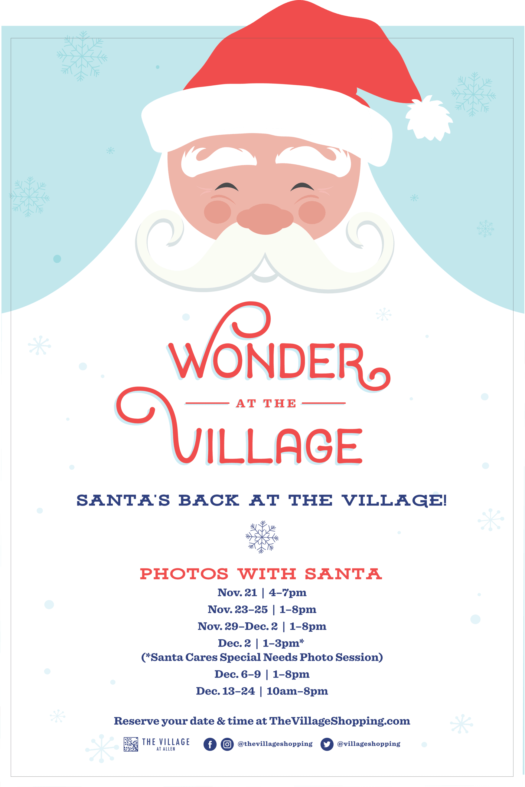 Village at Allen Photos with Santa flyer