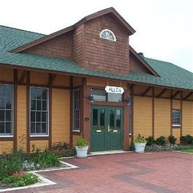 See a replica of the original Allen Train Depot of the Houston and Texas Central Railway Company