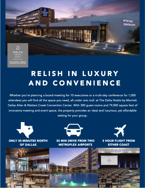 Delta Dallas Allen & Watters Creek Convention Center Digital Brochure