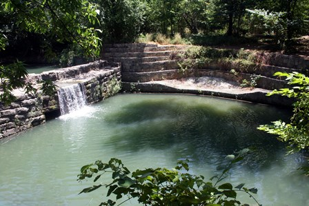 Allen's 1874 stone dam and railroad water station is designated by the Texas Historical Commission as a State Archaeological Landmark and thought to be the only railroad water reservoir dam left in the United States.