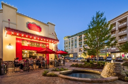 In addition to a variety of retail shops, Watters Creek at Montgomery Farm also boasts a variety restaurants featuring al fresco dining with water views.