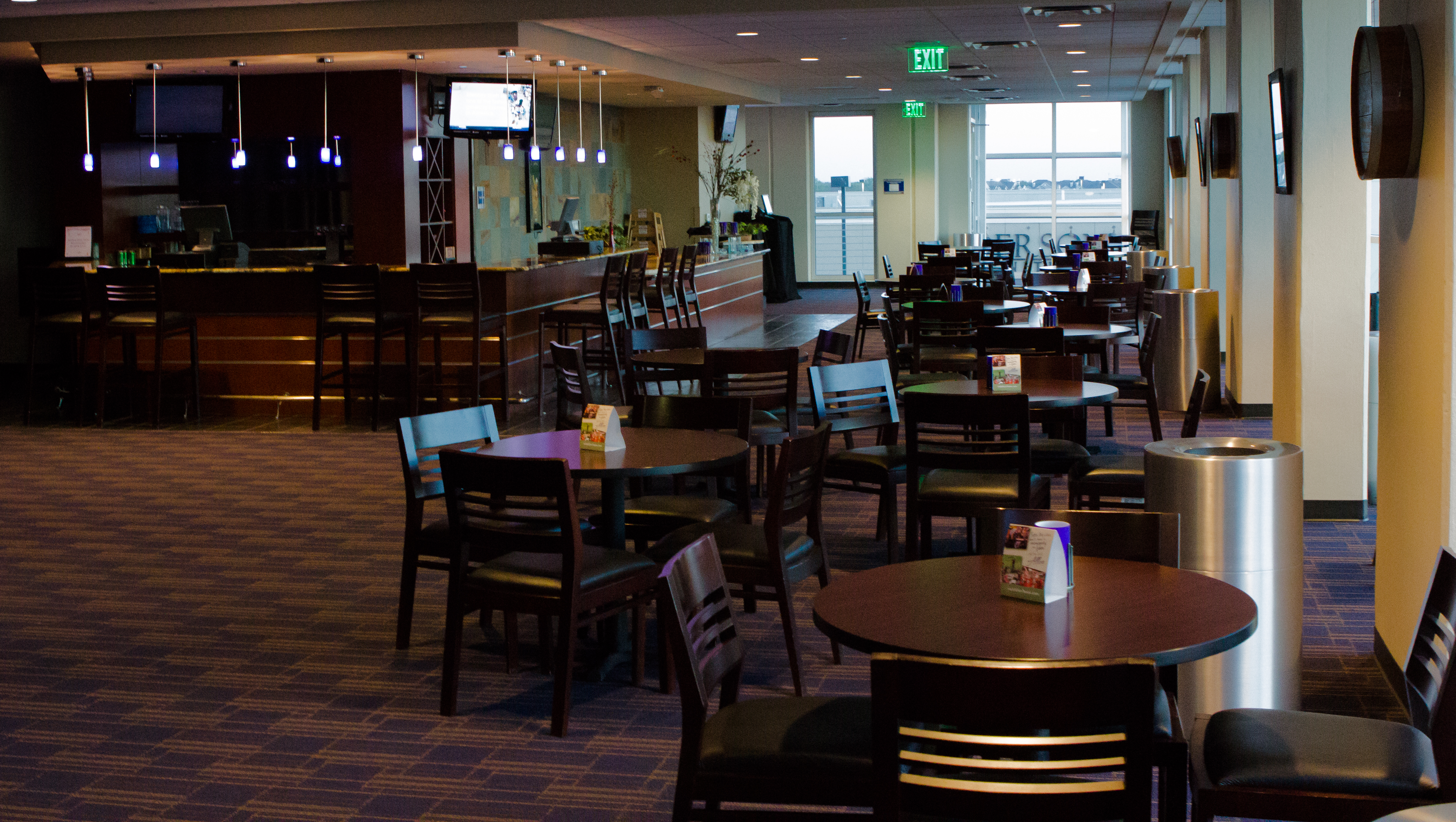 The approximately 1,500 square foot Jameson Lounge is a great space for smaller groups