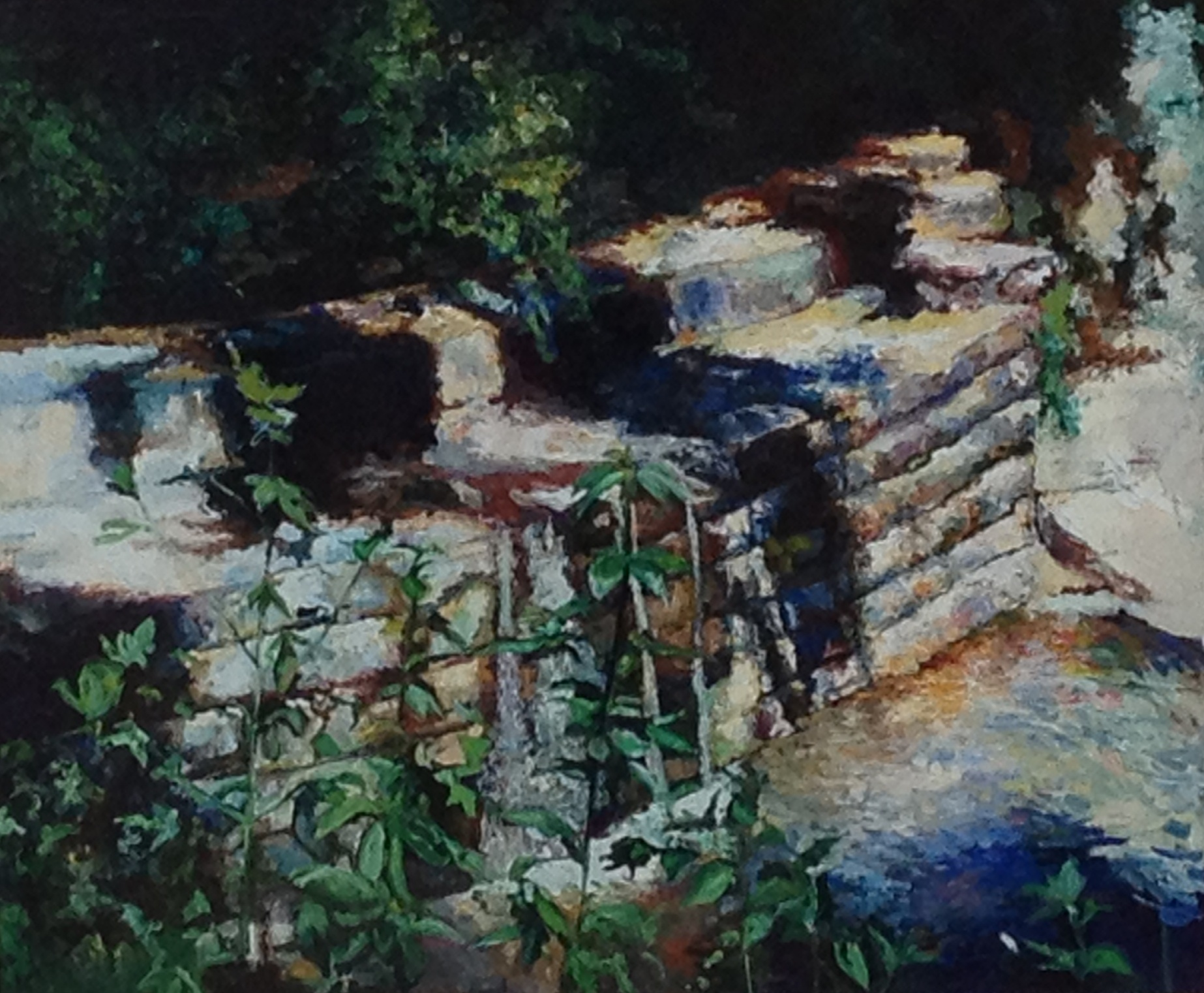 The Allen Historic Dam, by Amanda Dunbar, is a part of Allen's growing public art collection