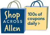 Shop Across Allen - 100s of Coupons Daily